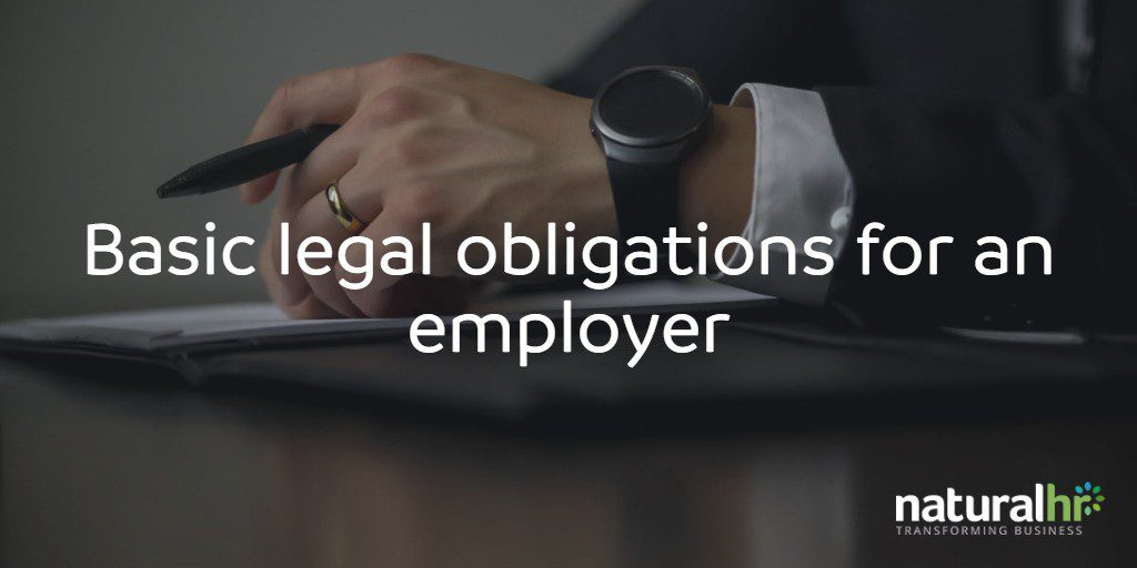 basic legal obligations for an employer