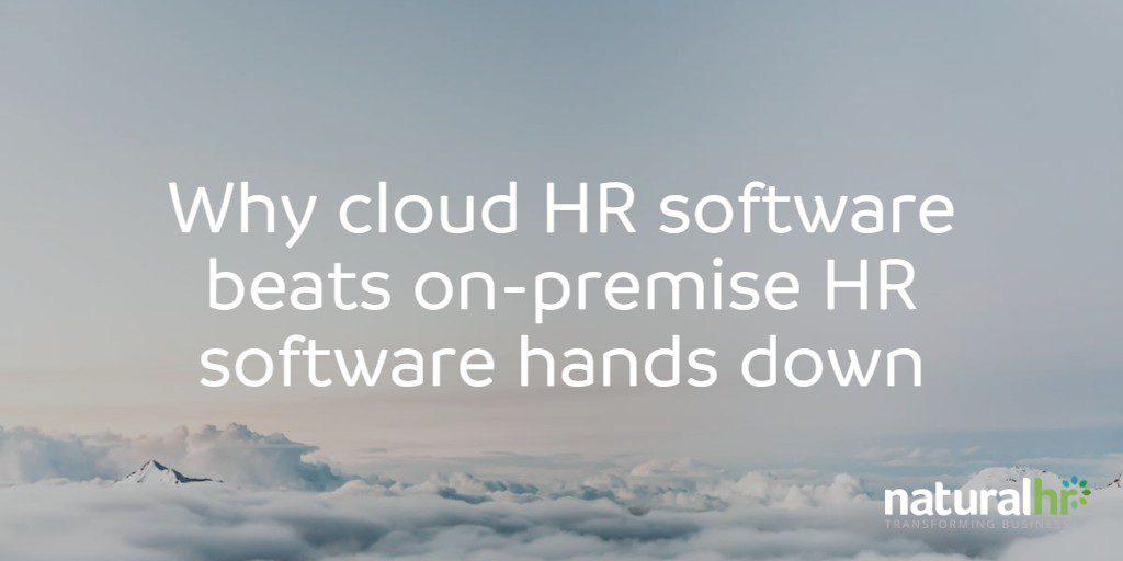 Why cloud HR software beats on-premise HR software hands