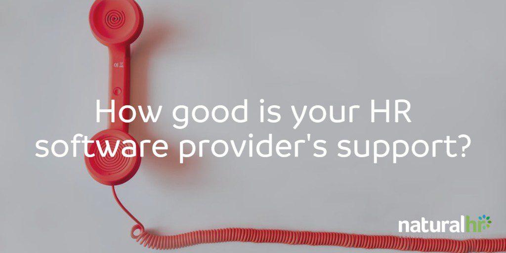 HR software provider support