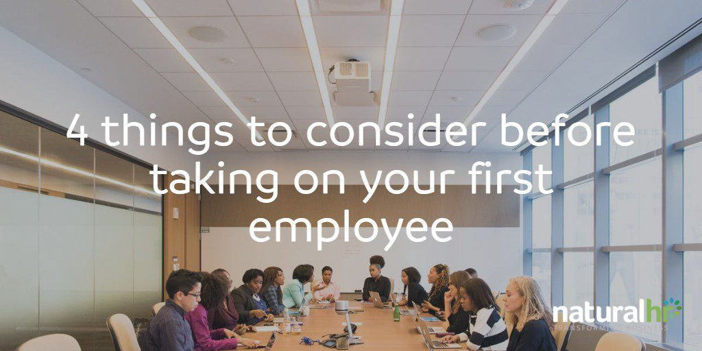 4 things to consider before taking on your first employee