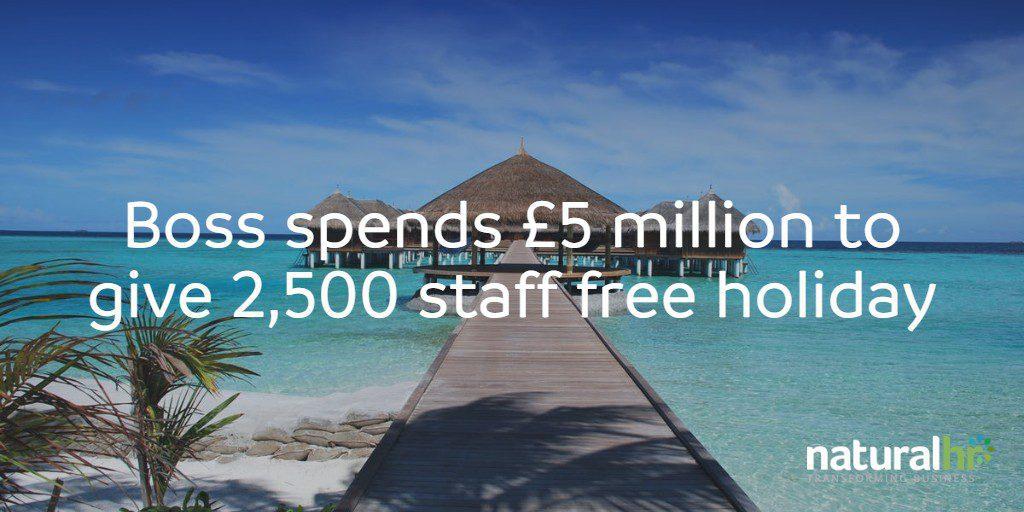 free staff holiday