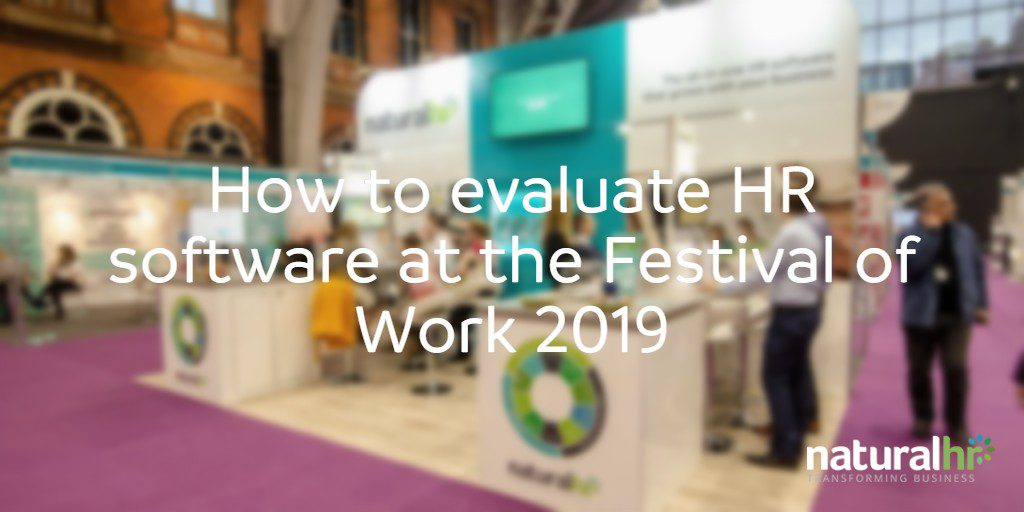 evaluate HR software at festival of work