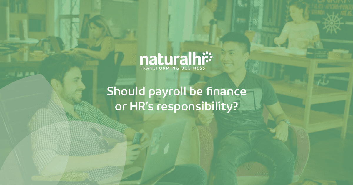 is payroll finances responsibility