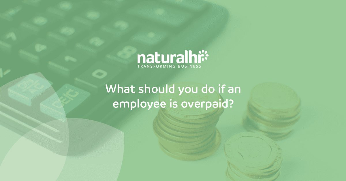 employee is overpaid in salary