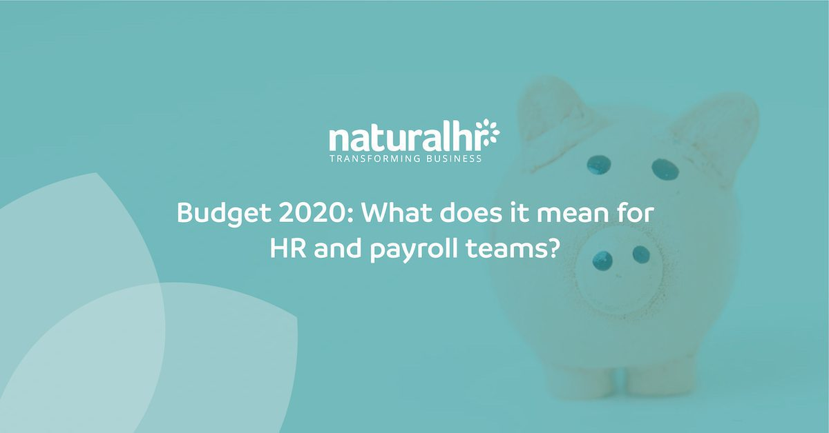 Budget 2020: What does it mean for HR and payroll teams?