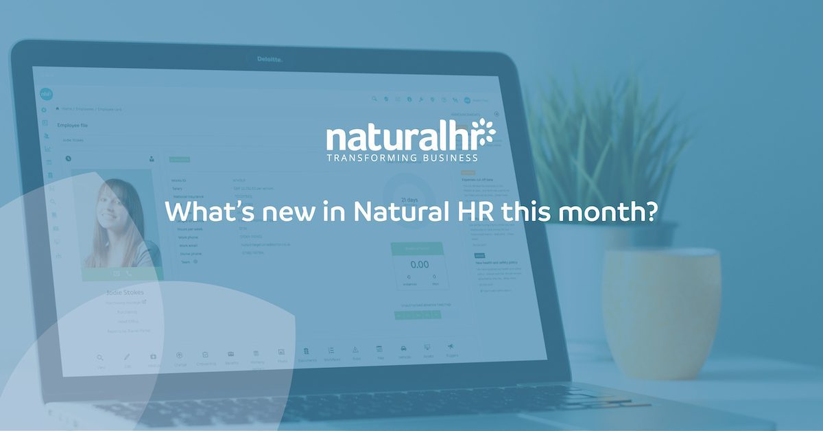 Natural HR updates