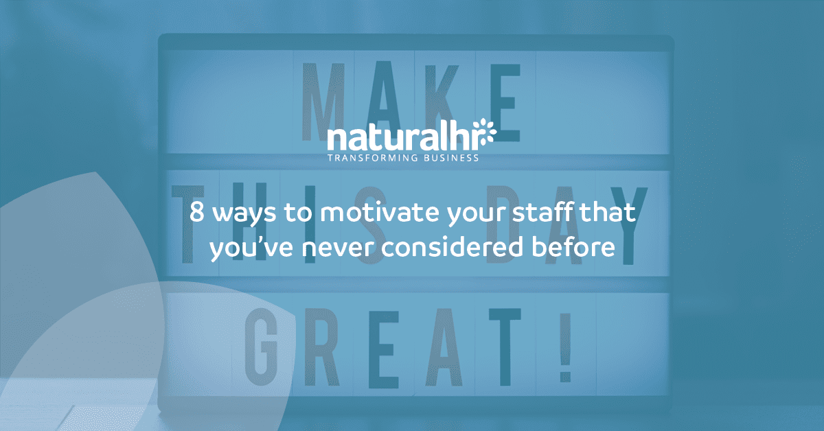motivate your staff