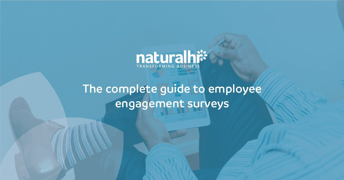 Person analysing employee engagement survey results