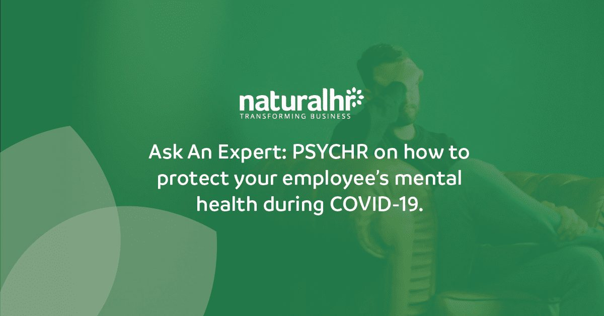 PsycHR on how to protect your employee's mental health during COVID-19