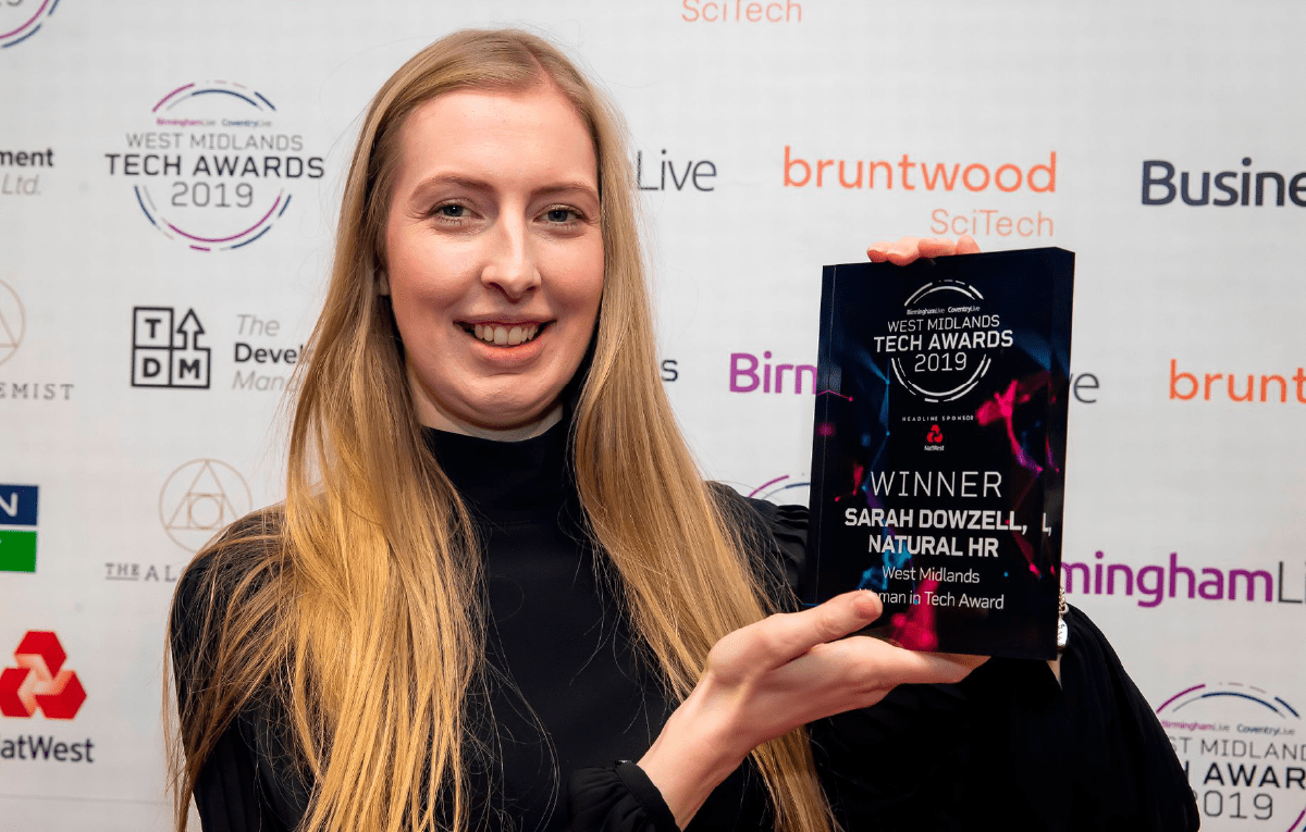 Sarah Dowzell WMTech Awards