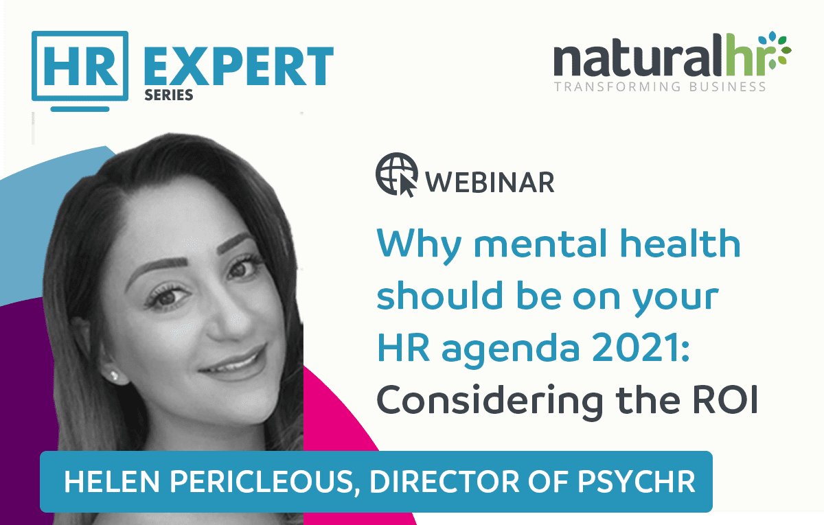 Helen Pericleous (PsycHR) HR Expert Mental Health Webinar