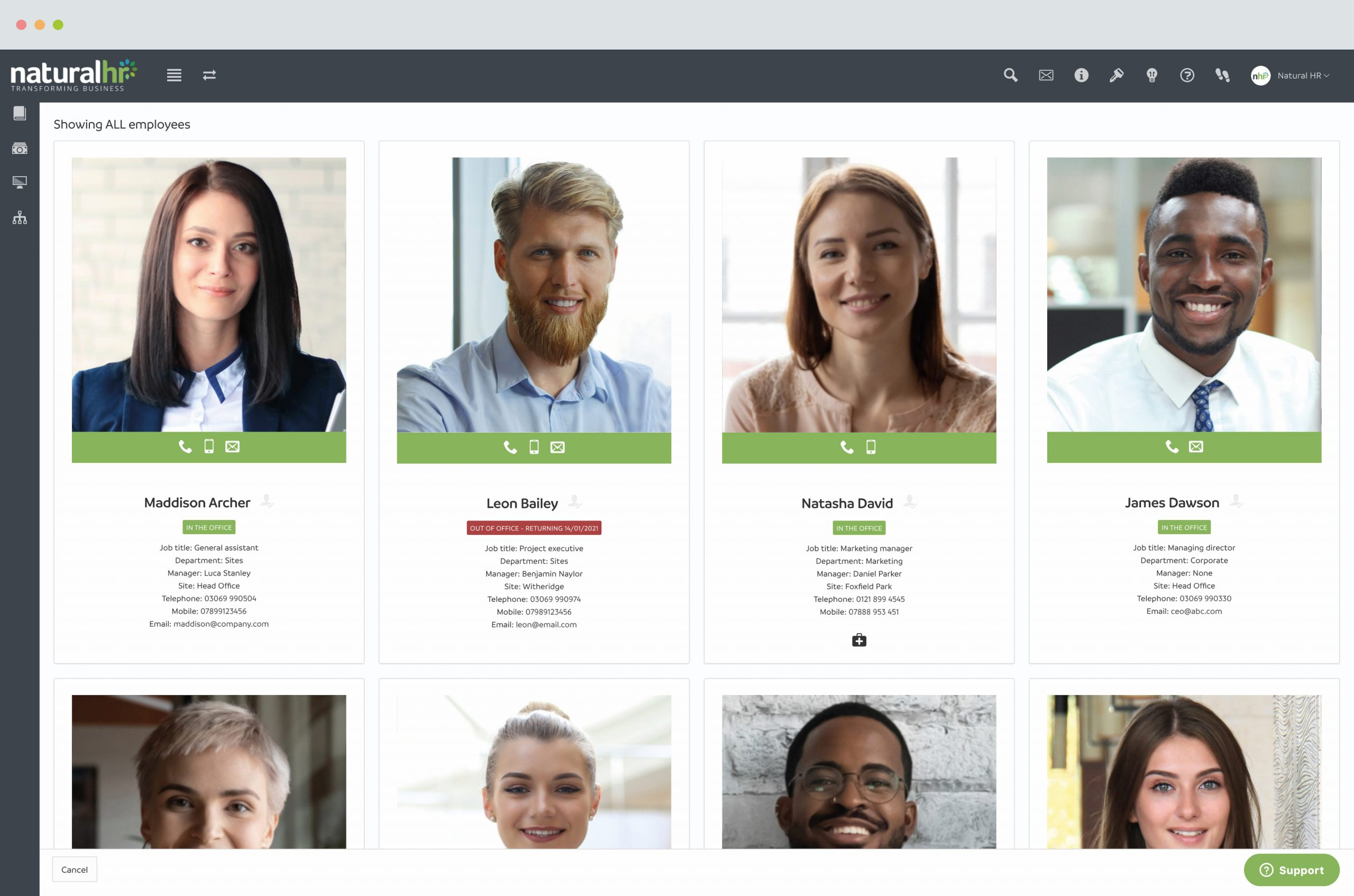 employee directory