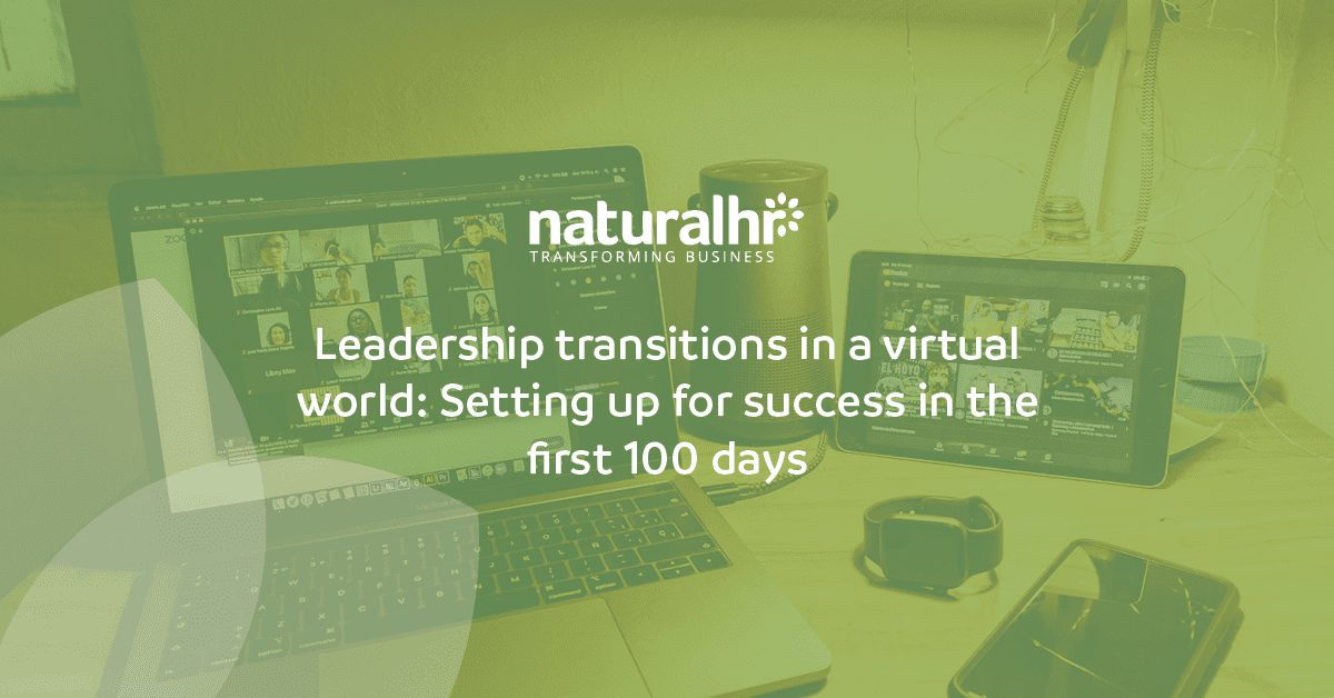 Leadership transitions in a virtual world: Setting up for success in the first 100 days