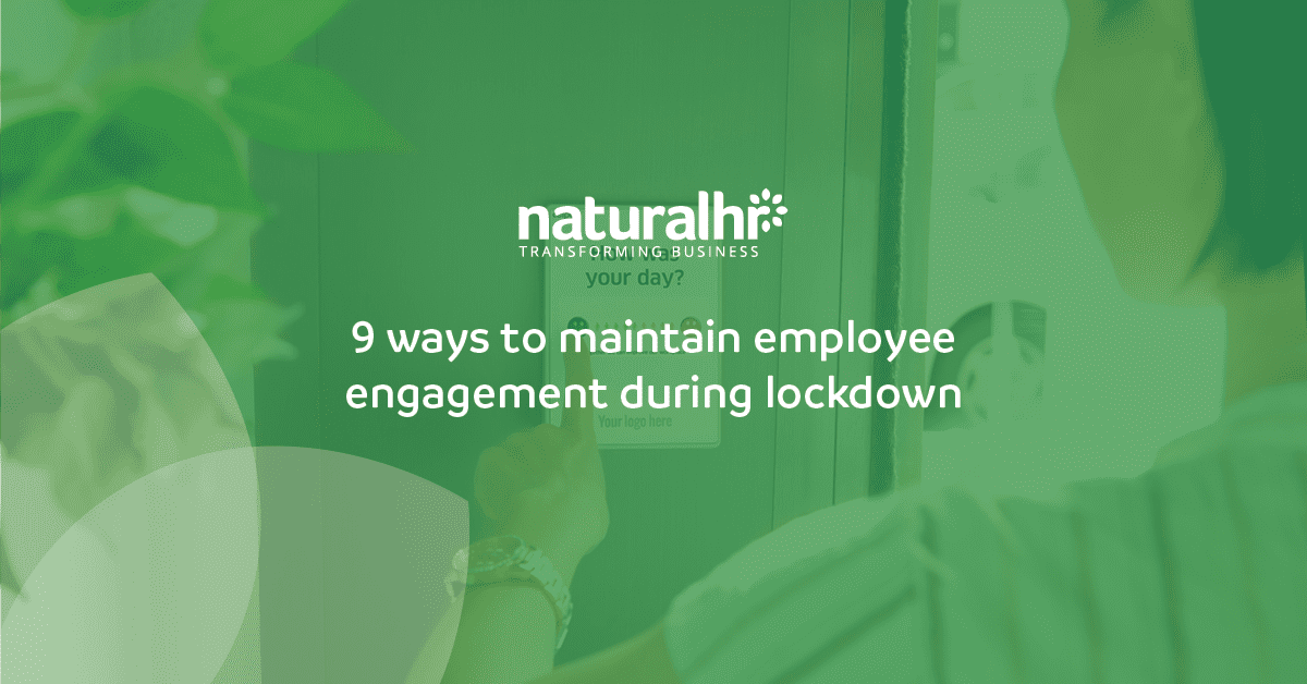 9 ways to maintain employee engagement during lockdown