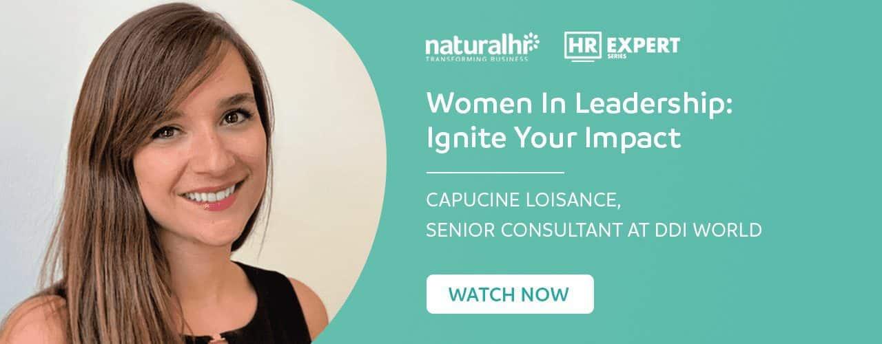 Capucine Loisance, DDI - HR Expert Webinar - Women In Leadership