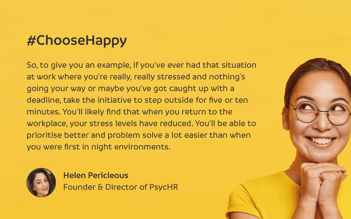 Founder of PsycHR, Helen Pericleous looks at how to incorporate nature into wellbeing and the workplace