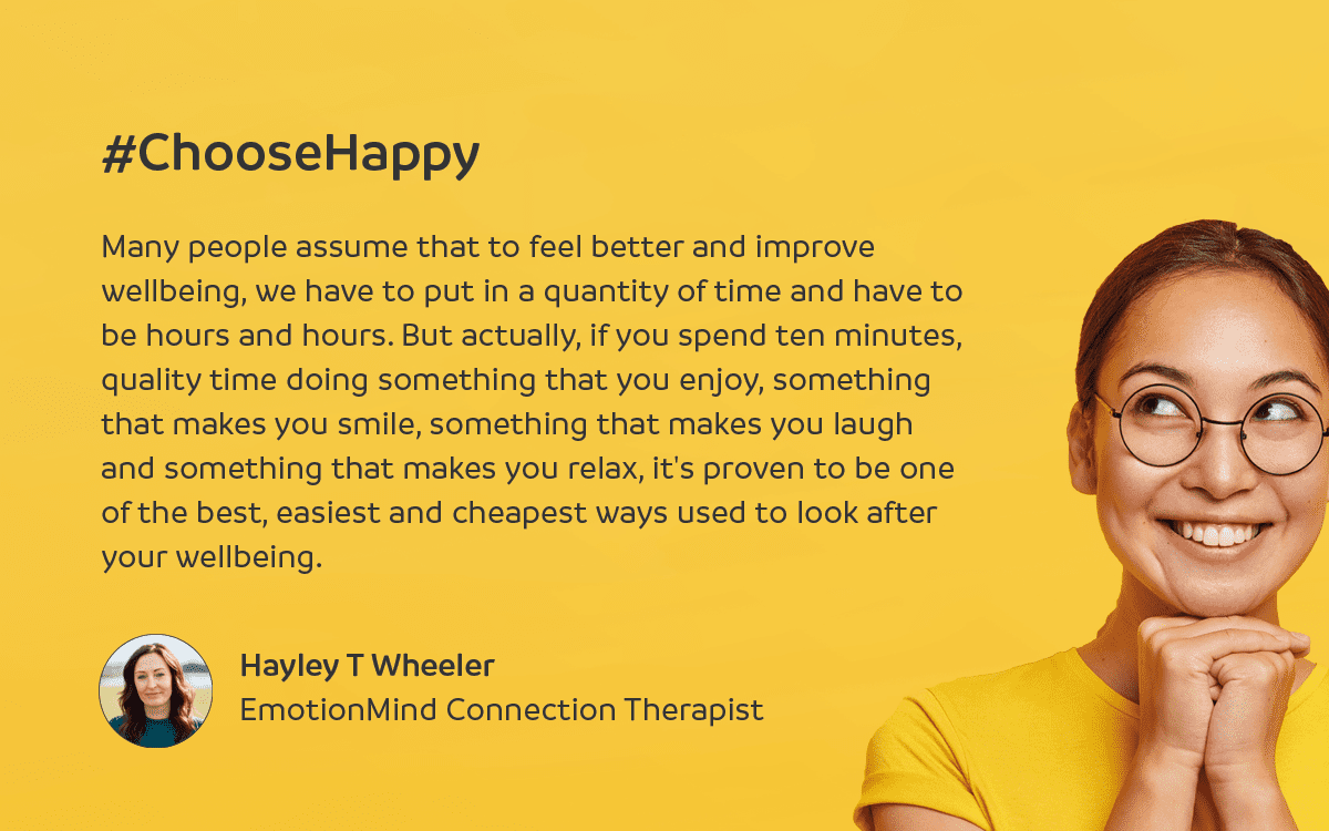 Hayley T Wheeler on #ChoosingHappy